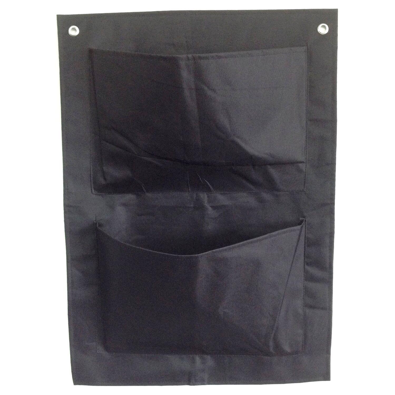 Pflanztasche mit 2 Taschen Schwarz | Garten > Pflanzen > Pflanzen | Schwarz | -- | Garden Pleasure
