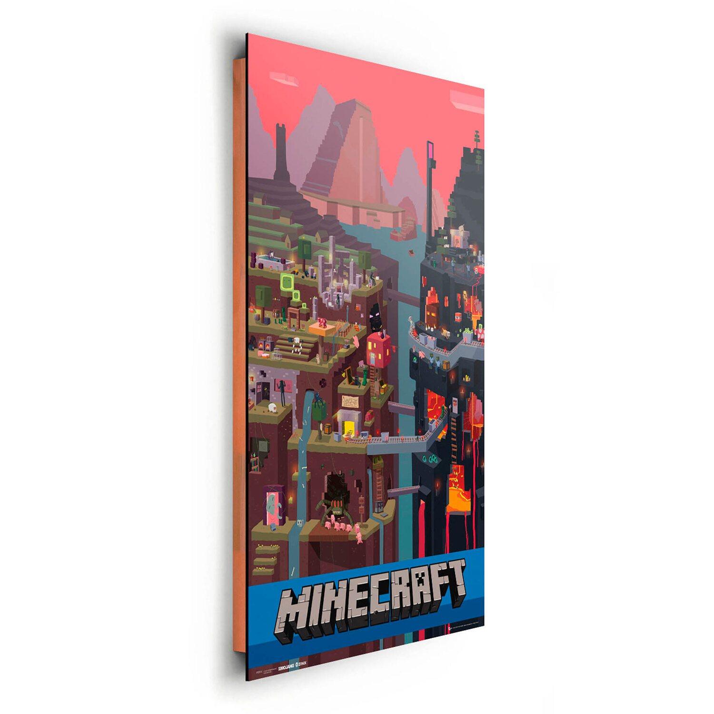 Wandbild Minecraft 60 cm x 90 cm kaufen bei OBI