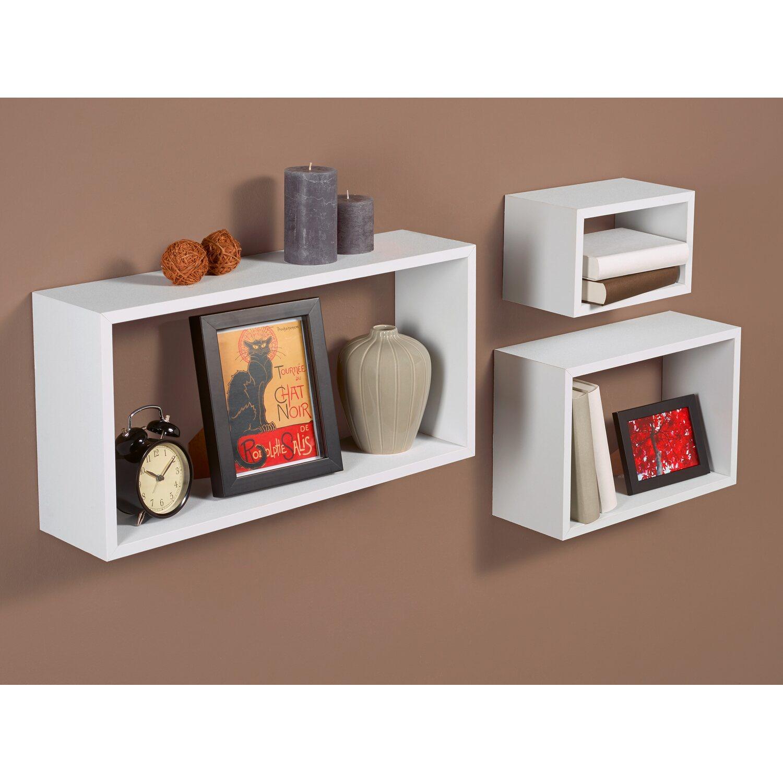 obi kubus set roanne wei 60 cm x 30 cm 3 teilig kaufen bei obi. Black Bedroom Furniture Sets. Home Design Ideas