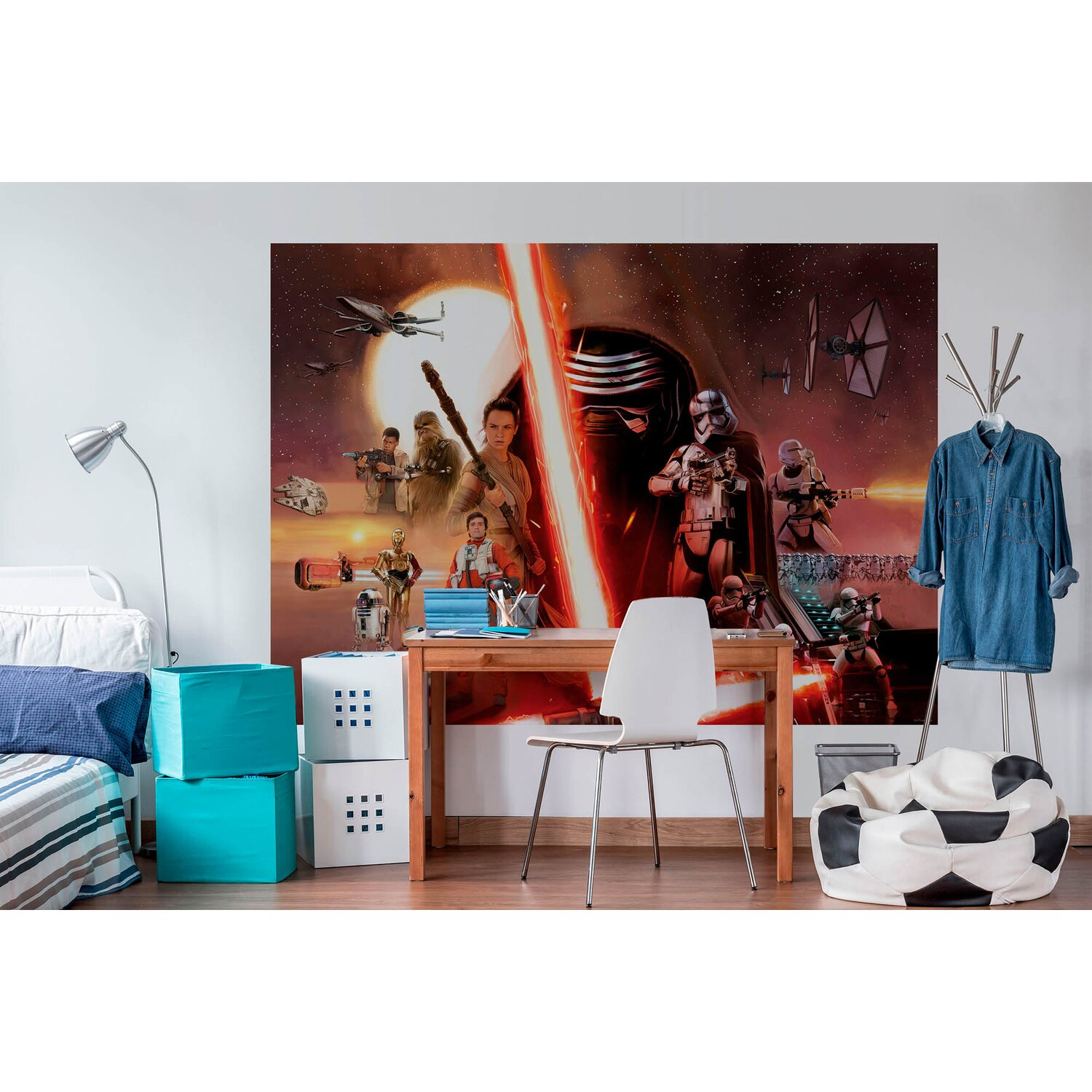 fototapete star wars force awakens 254 cm x 184 cm kaufen bei obi. Black Bedroom Furniture Sets. Home Design Ideas