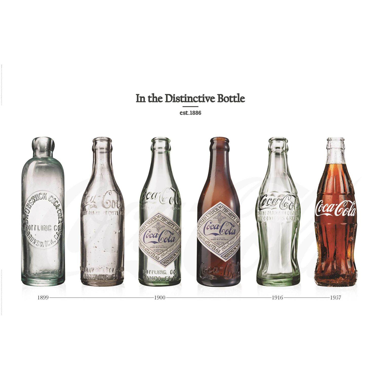Wandbild Coca-Cola - Flasche-Entwicklung II 90 cm x 60 cm kaufen bei OBI