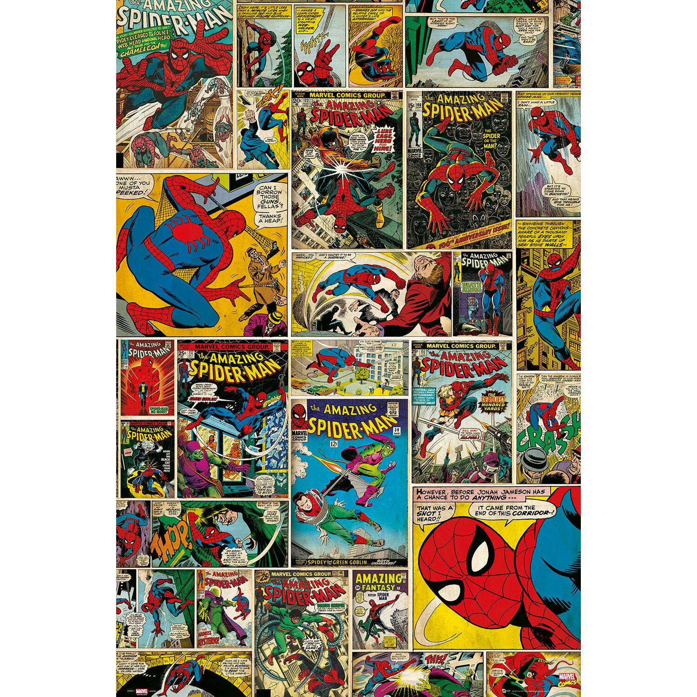 wandbild marvel spider man comic covers 60 cm x 90 cm. Black Bedroom Furniture Sets. Home Design Ideas