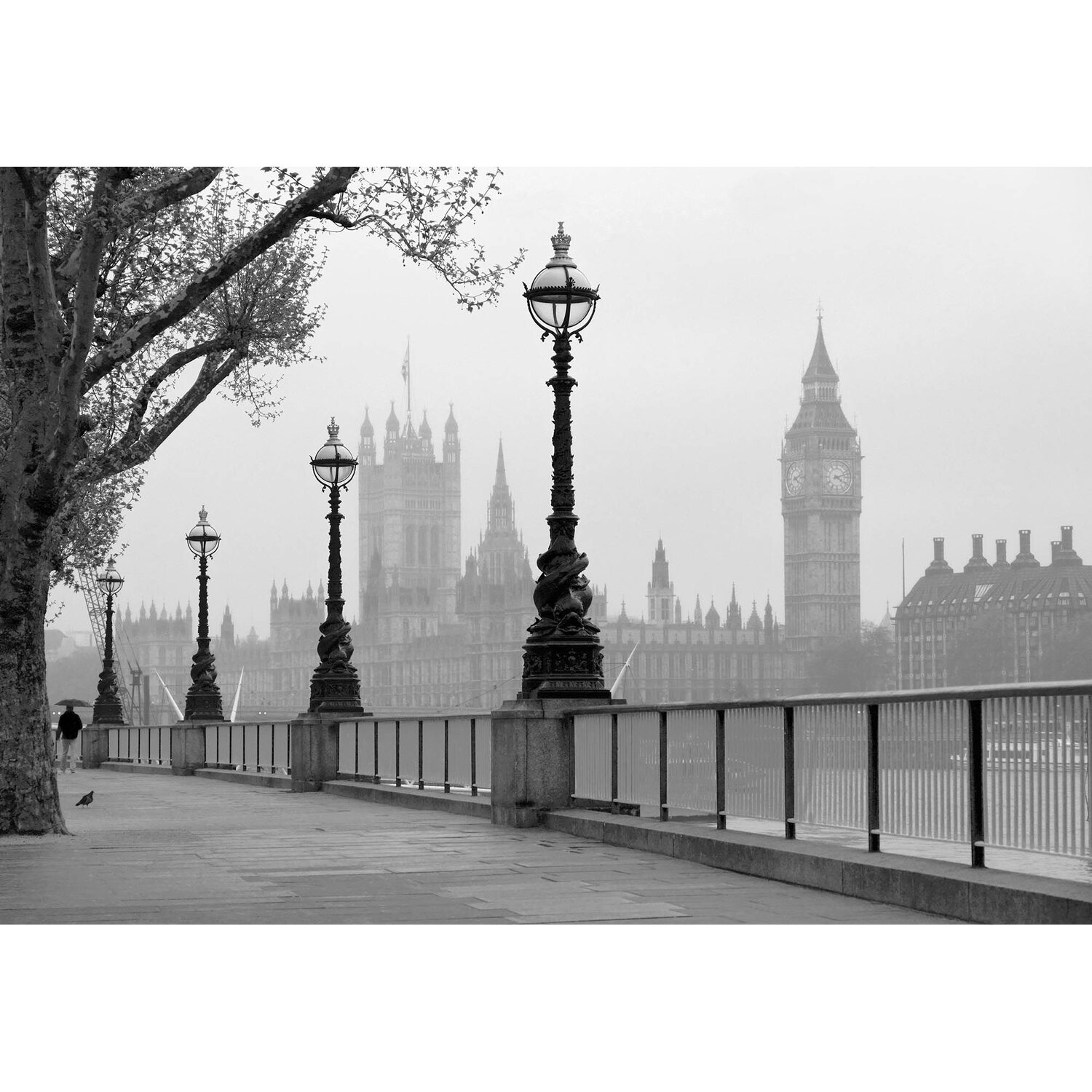 Fototapete London Nebel 366 cm x 254 cm