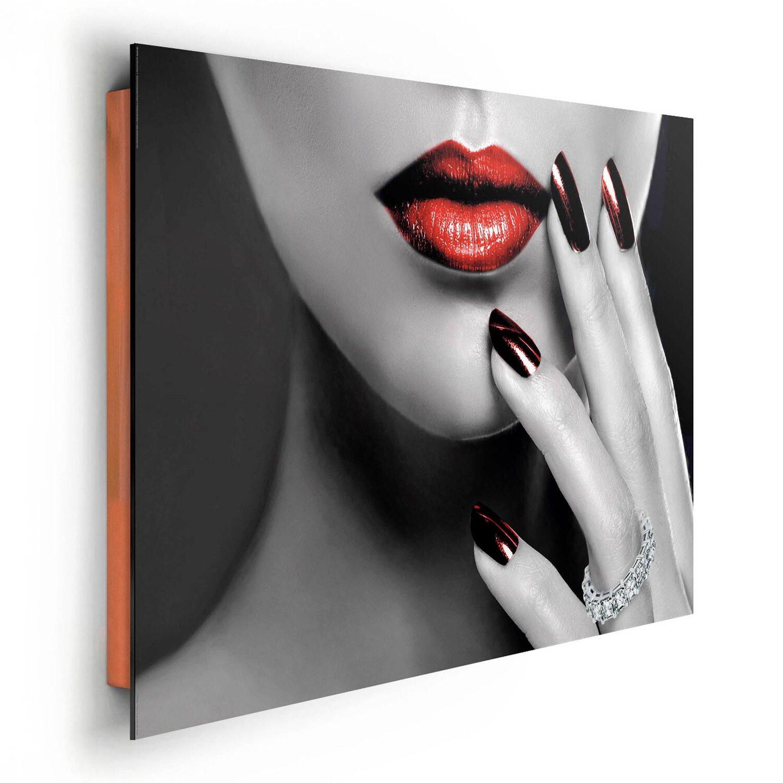 Wandbild Rote Lippen und Nägel 90 cm x 60 cm kaufen bei OBI