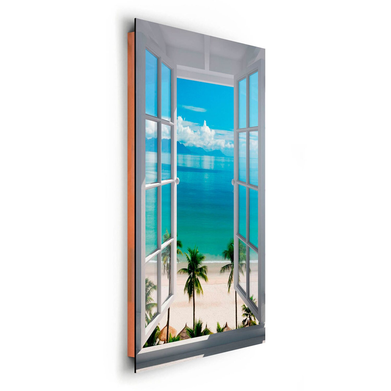 Wandbild Strand Fenster 60 cm x 90 cm kaufen bei OBI