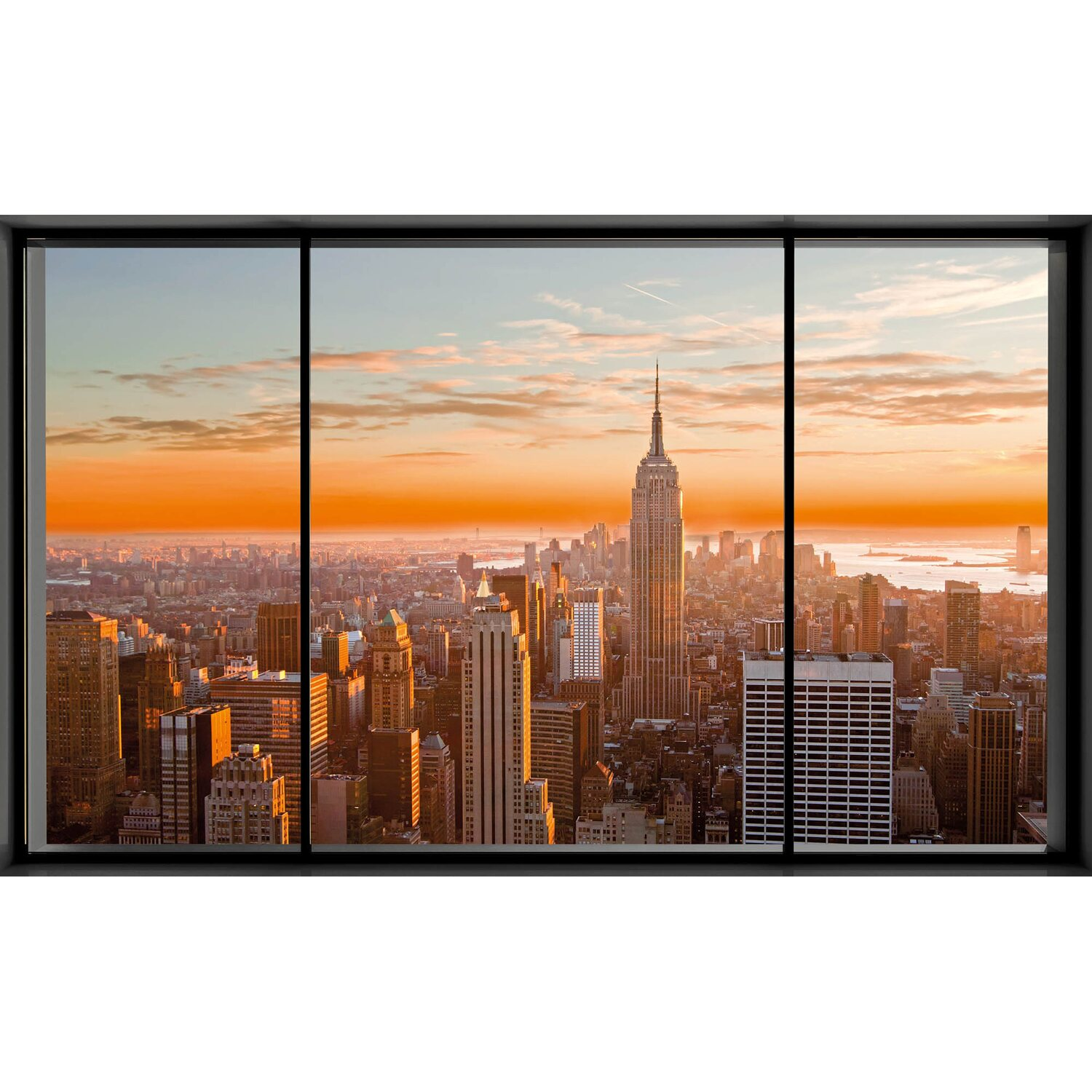 wandbild new york fenster ii 118 cm x 70 cm kaufen bei obi. Black Bedroom Furniture Sets. Home Design Ideas