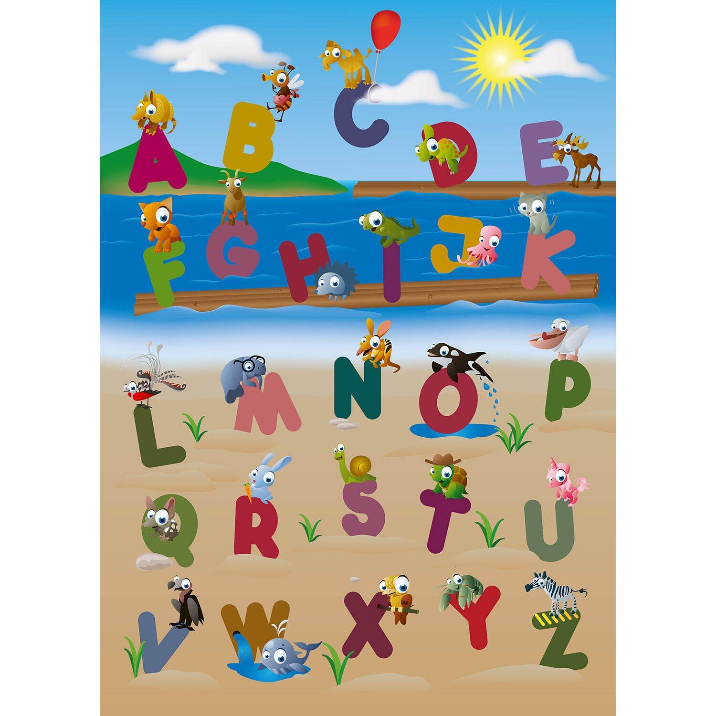 Fototapete Alphabet der Tiere 183 cm x 254 cm