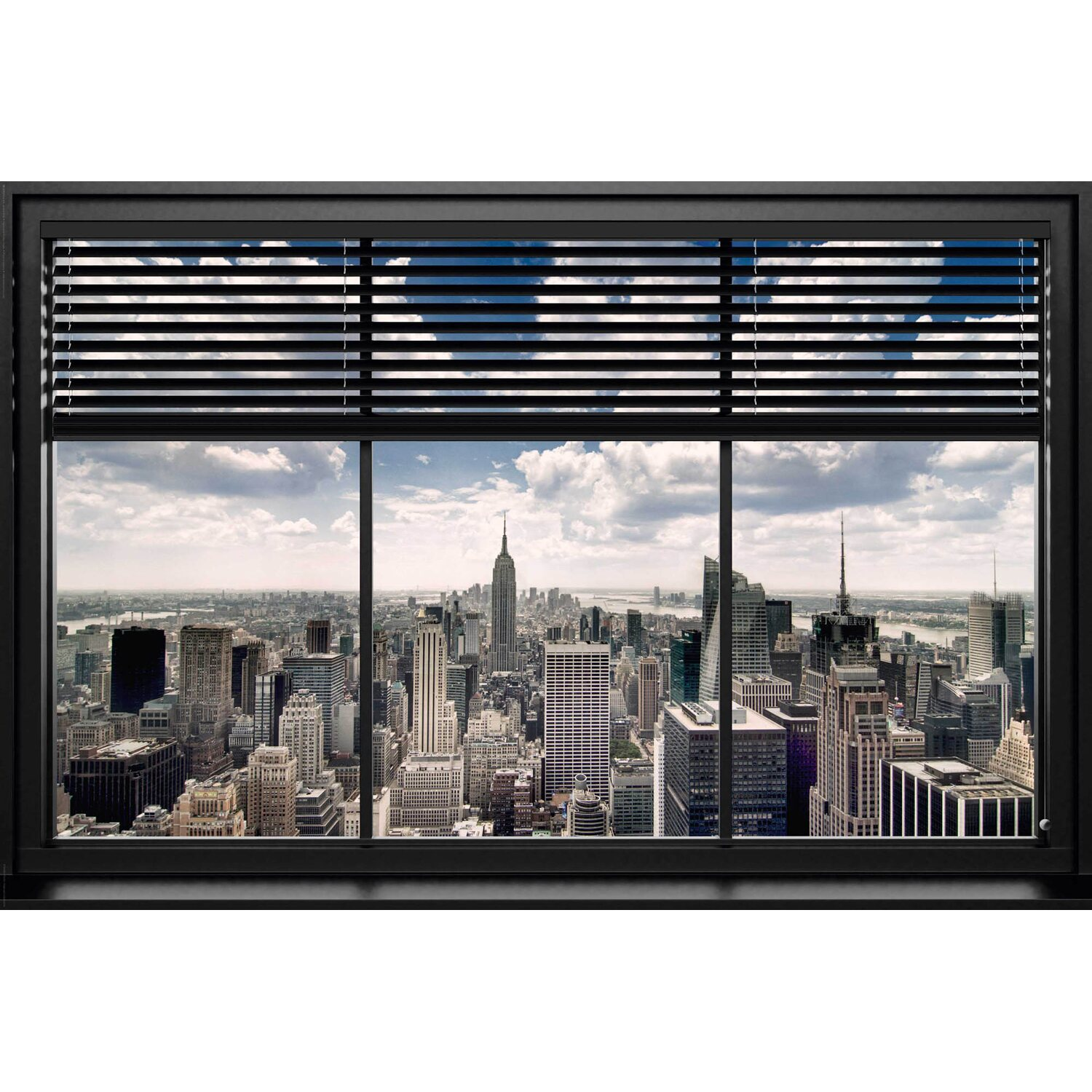 wandbild new york fenster lamellen 90 cm x 60 cm kaufen bei obi. Black Bedroom Furniture Sets. Home Design Ideas