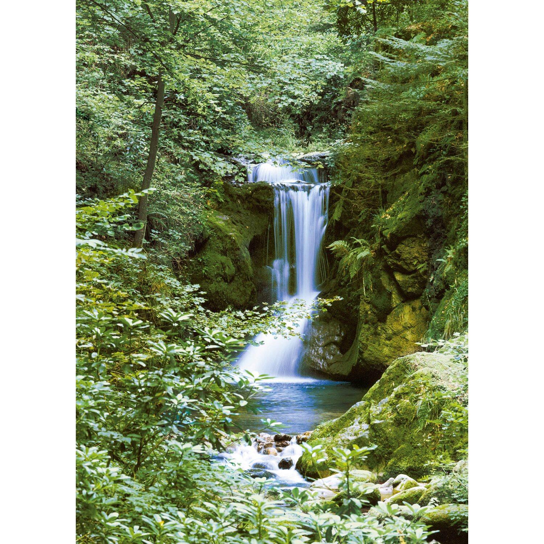Fototapete Wasserfall im Frühjahr 183 cm x 254 cm