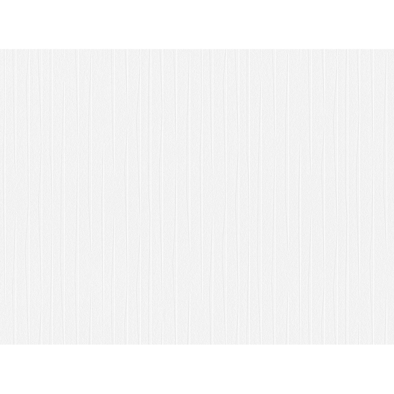 Aisslinger Vliestapete Streifen Weiß