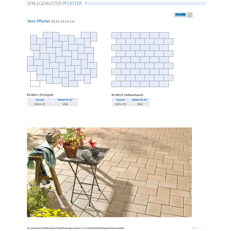 pflaster beton vero silbergrau kaufen bei obi