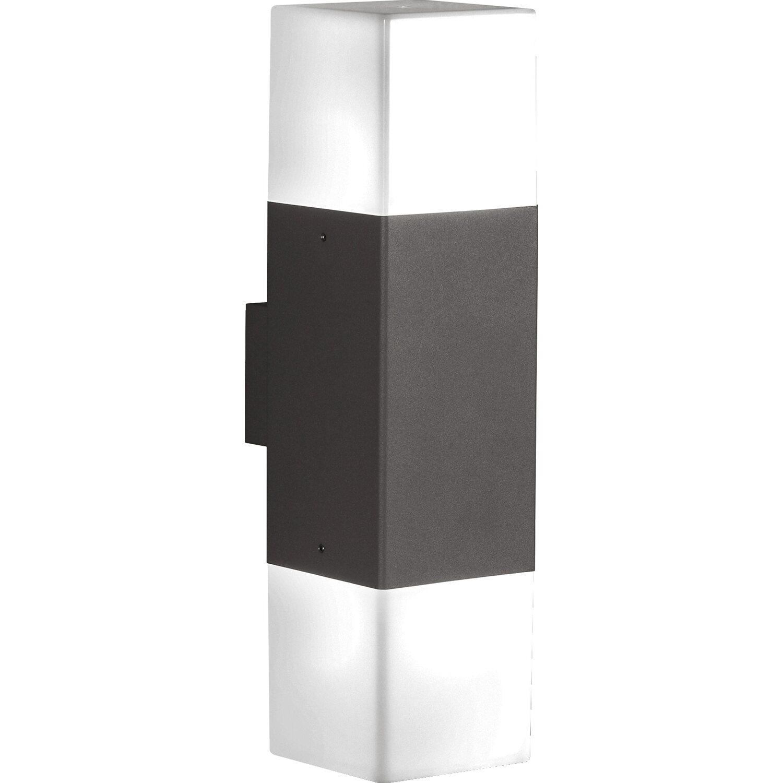 Trio LED-Außenwandleuchte EEK: A+ Hudson 2-flammig Anthrazit