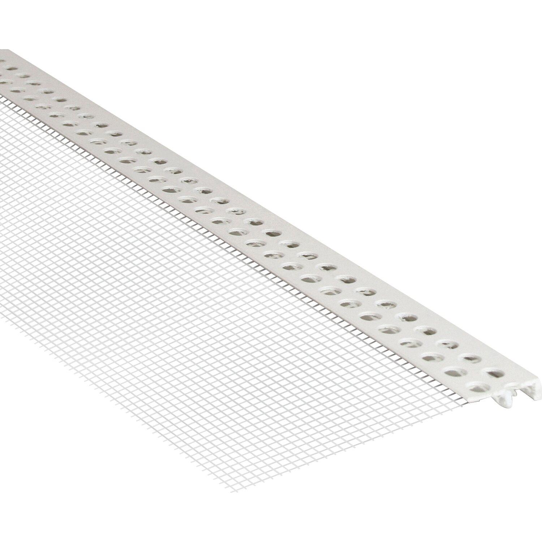 Abschlussprofil PVC mit Gewebe 6 mm x 2,50 m
