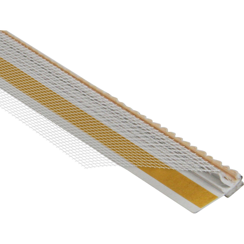 Anputzleiste 9 mm x 9 mm mit Gewebe und Schutzlippe 2,6 m