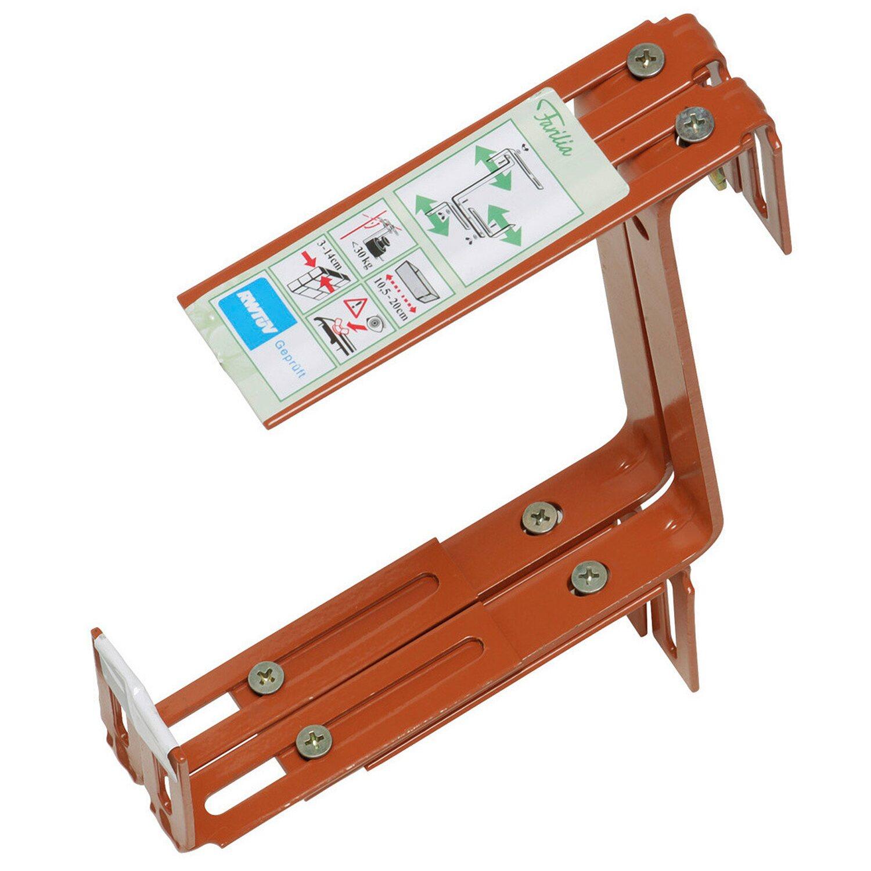 OBI Balkonkastenhalter Terracotta 3-dimensional verstellbar