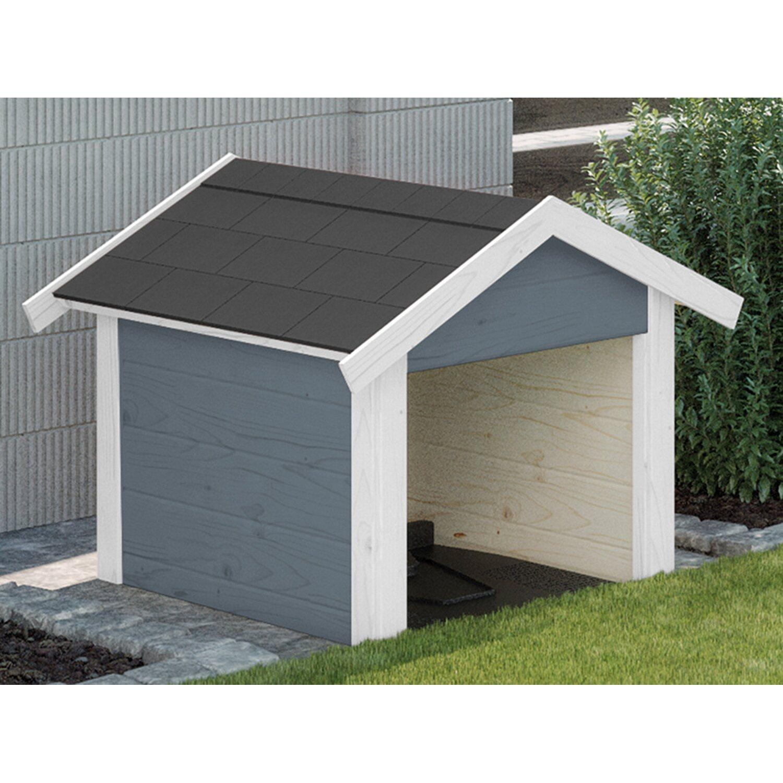 Weka Garage für Mähroboter/Rasenroboter Grau