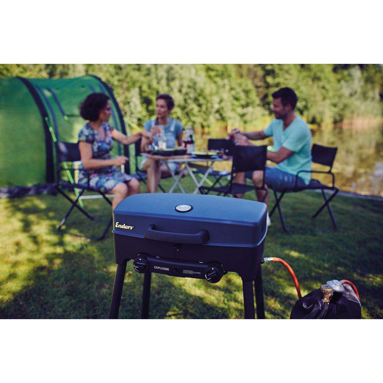 enders stand tisch gasgrill explorer 2 brenner zum grillen backen kochen kaufen bei obi. Black Bedroom Furniture Sets. Home Design Ideas