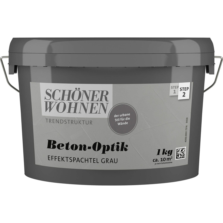 Schöner Wohnen Beton-Optik Effektspachtel Grau 1 L Kaufen