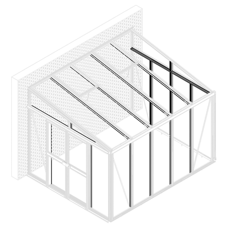 Pavillon-Nachrüstsatz Helena 7000 Grau