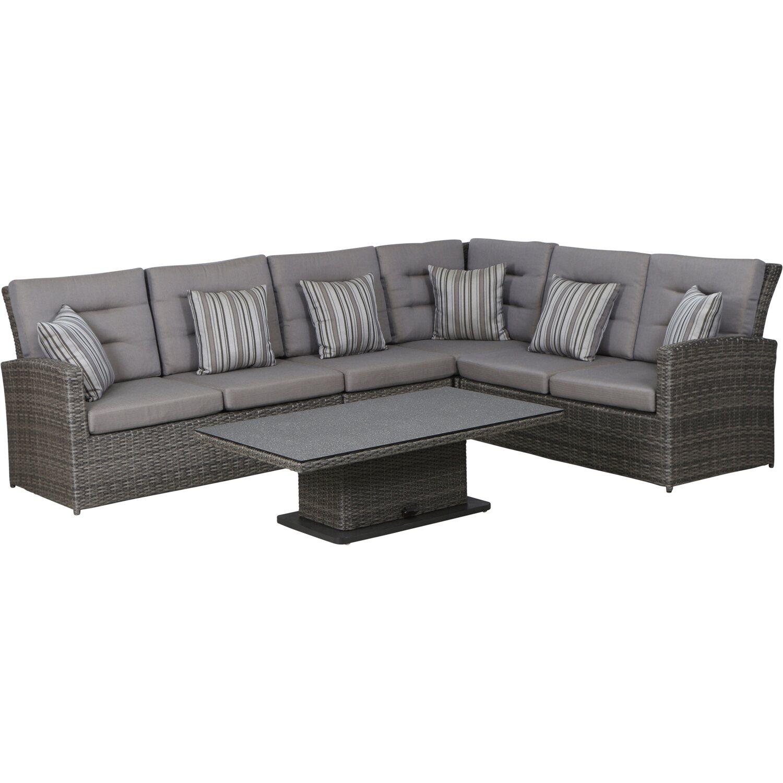 Siena Garden Lounge-Set Porto 5-tlg. 82,5 cm x 137 cm x 90 cm ...