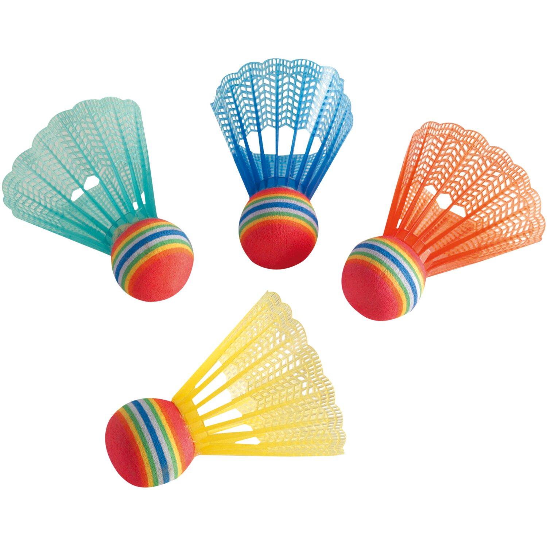 8er Set Badmintonball Leuchteball Kunststoff Spiel t LED Federball-Ersatzbälle