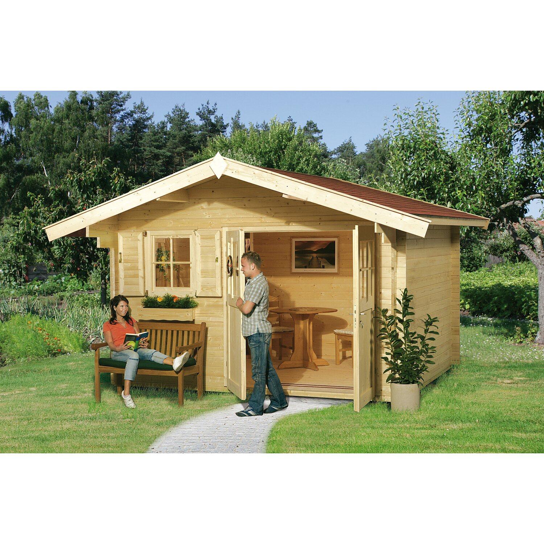 Weka Holz-Gartenhaus Sienna D 340 cm x 250 cm