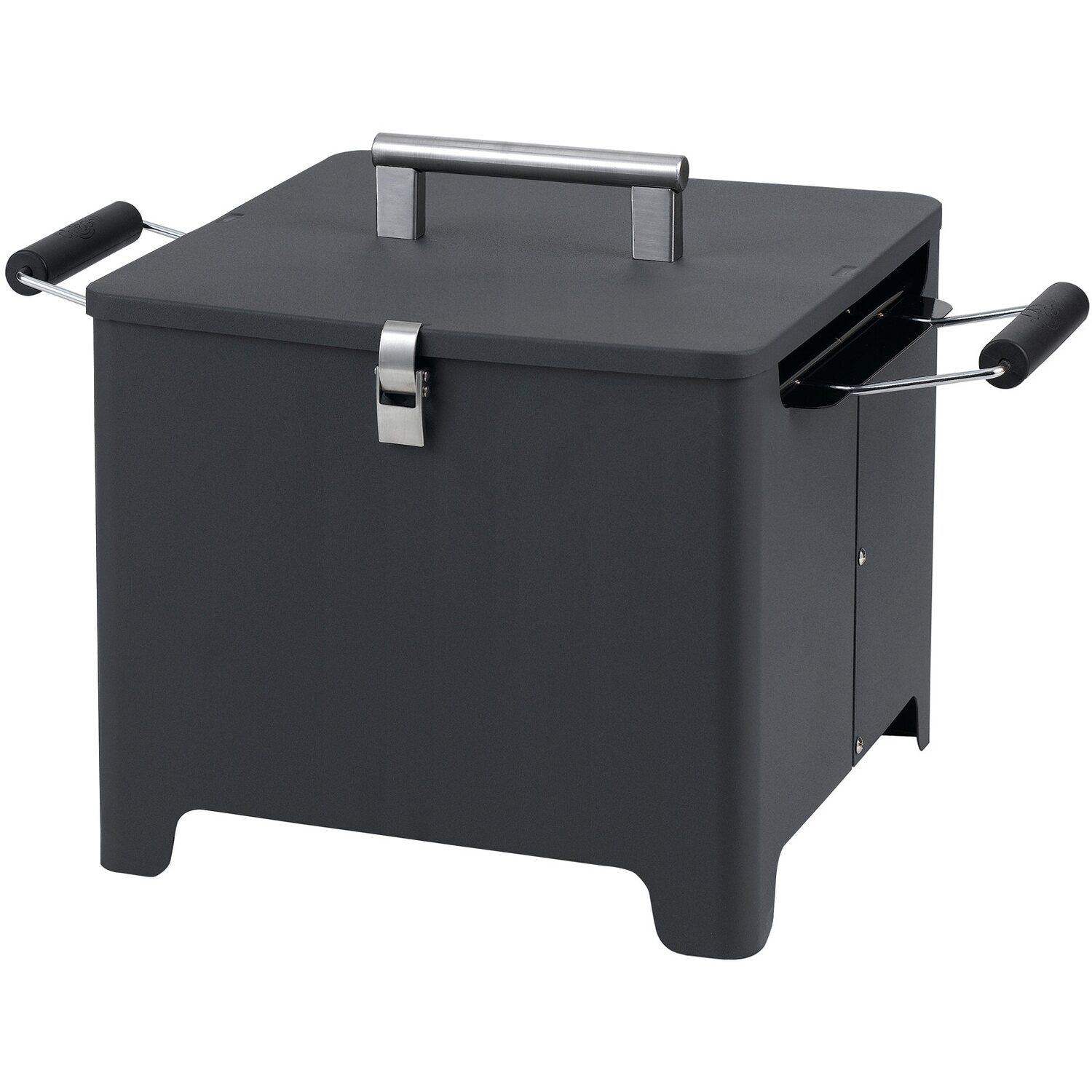Tepro Chill und Grill Holzkohle-Grill Cube Anthrazit