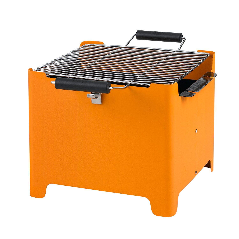 tepro holzkohlegrill chill & grill cube orange 31,5 x 31,5 cm kaufen