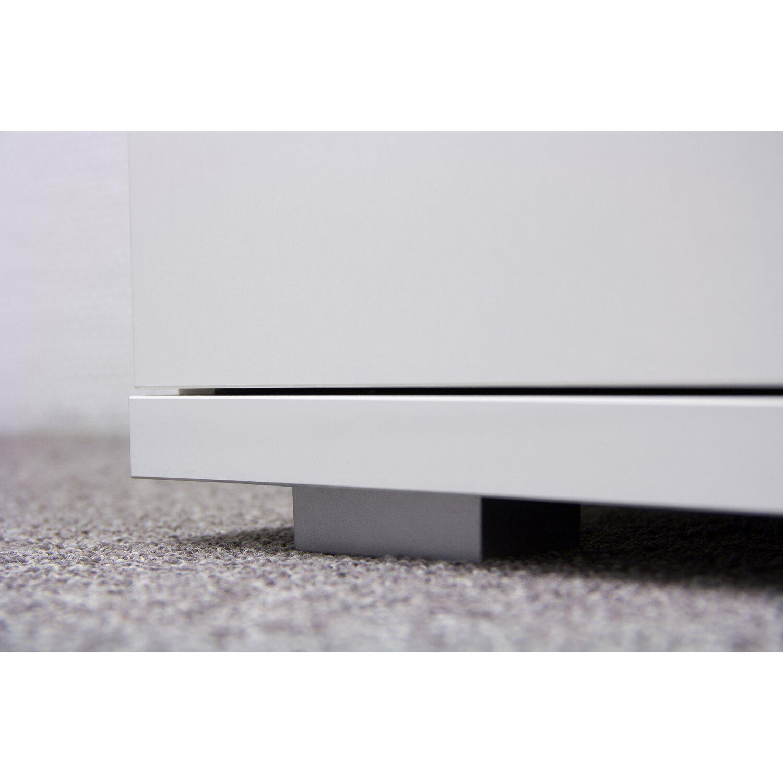 flex-well wohnzimmer-sideboard weiß hochglanz korpus brilliant ... - Wohnzimmer Weis Hochglanz