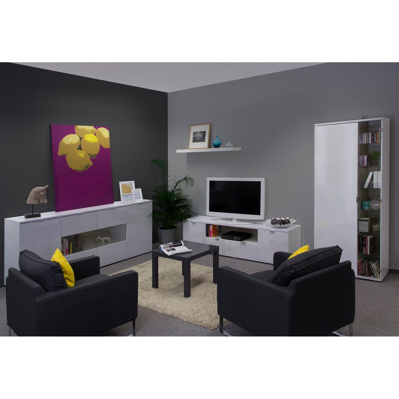 flex-well wohnzimmer-sideboard weiß hochglanz korpus brilliant
