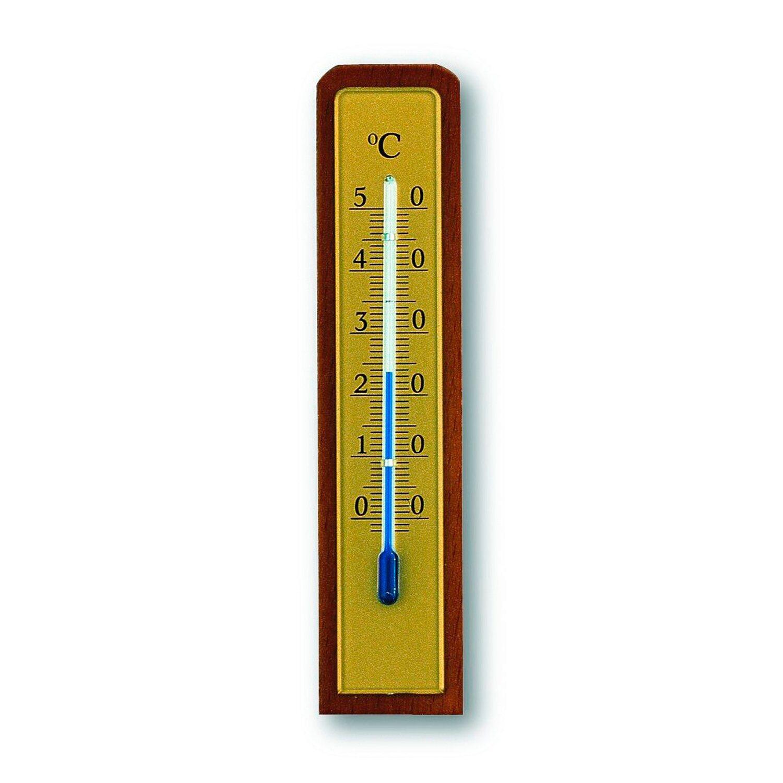 TFA Innen-Thermometer Nussbaum-Optik
