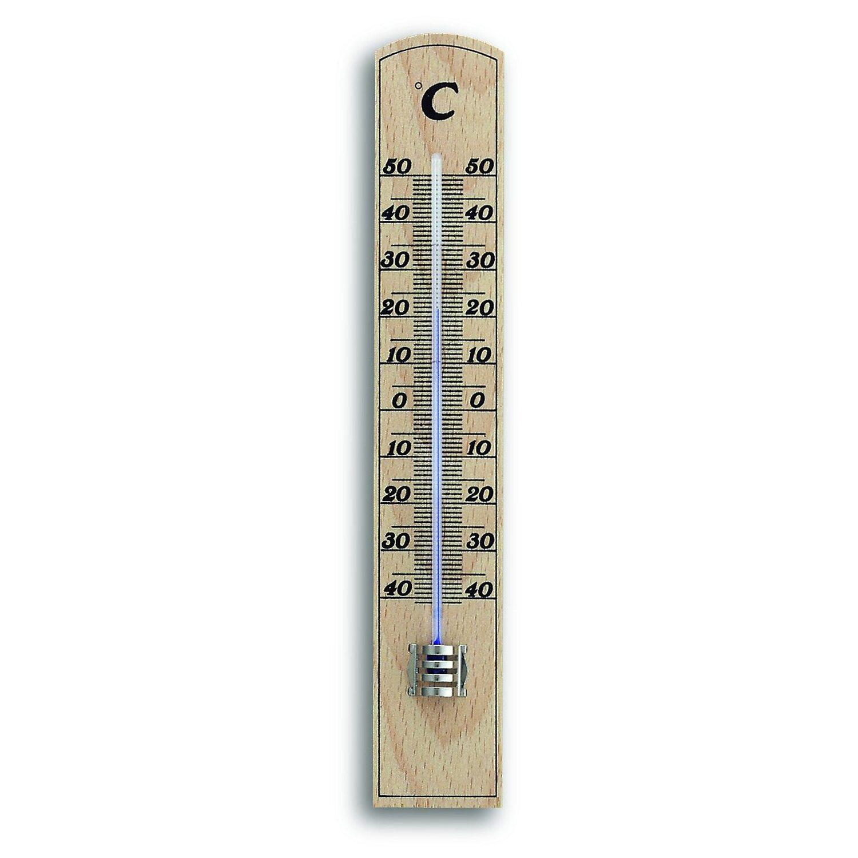 TFA Innen-Thermometer Buche-Optik