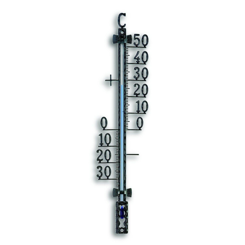 TFA Außenthermometer Metall Schwarz