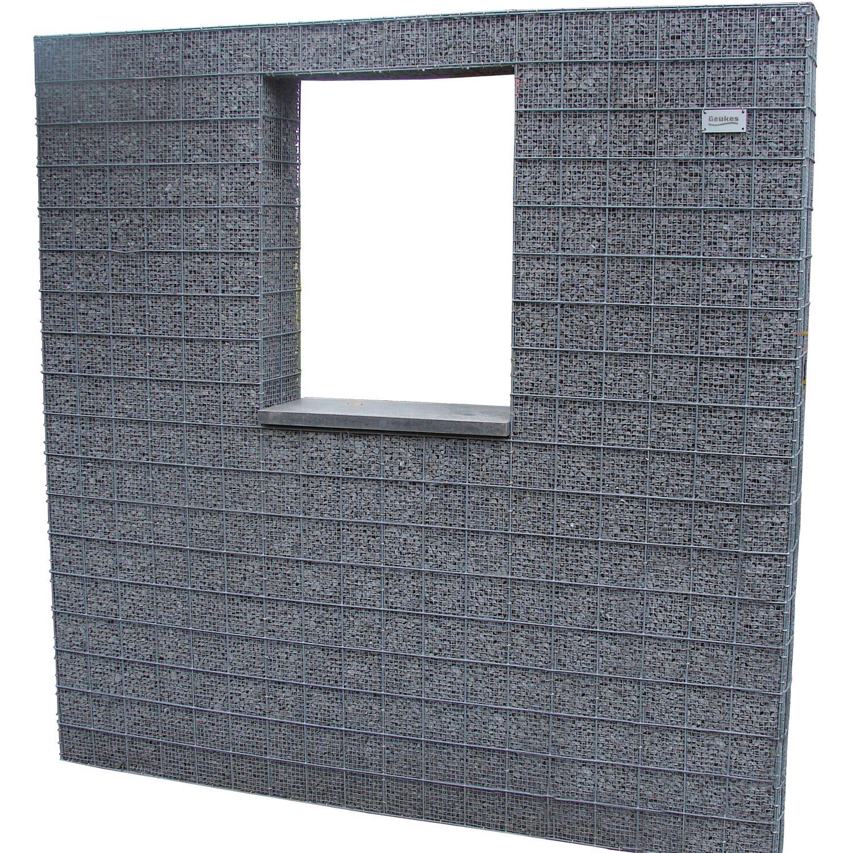 splitt gabione mit fenster 180 cm x 180 cm x 20 cm kaufen bei obi. Black Bedroom Furniture Sets. Home Design Ideas