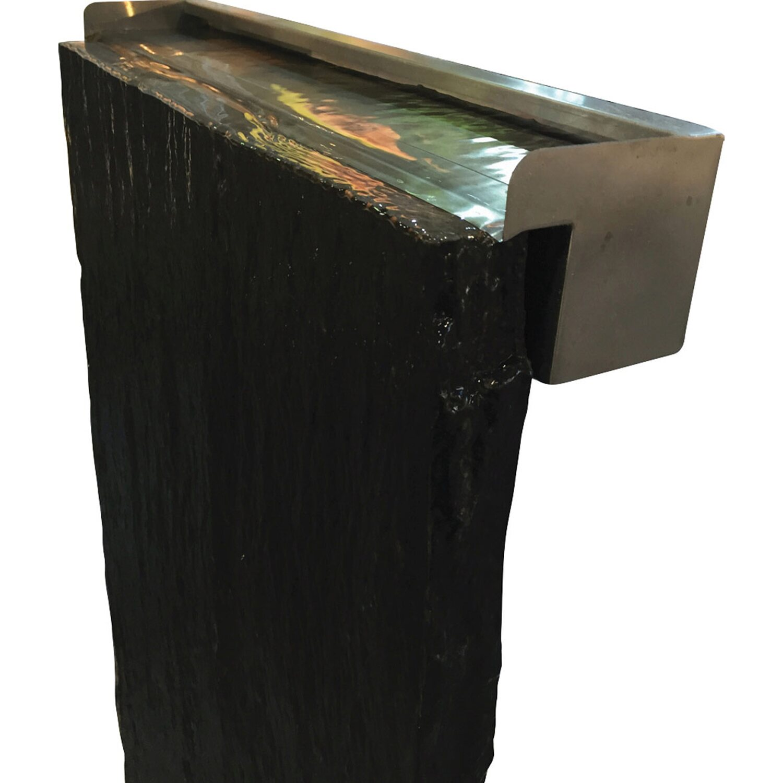 schieferplatte taco 200 cm x 50 cm x 3-7 cm inkl. wasserfall, Hause und garten