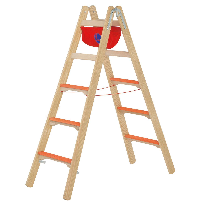 Hymer  Holz-Tiefsprossenstehleiter 2 x 5 Sprossen