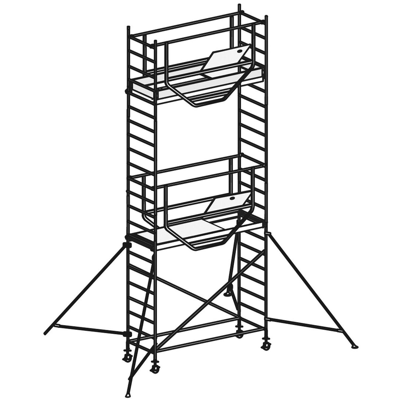 Hymer  Fahrgerüst Advanced Safe-T 7090 Arbeitshöhe: Ca. 6,14 m