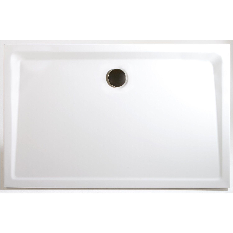 Schulte Duschwanne Rechteck extra-flach Alpinweiß 80 cm x 120 cm | Bad > Duschen > Duschwannen | Weiß | Sanitär-acryl | Schulte