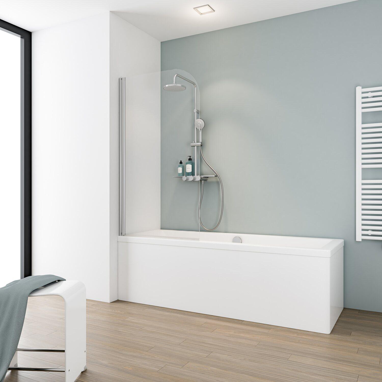 schulte badewannenaufsatz 1 teilig 80 cm x 140 cm echtglas klar hell kaufen bei obi. Black Bedroom Furniture Sets. Home Design Ideas