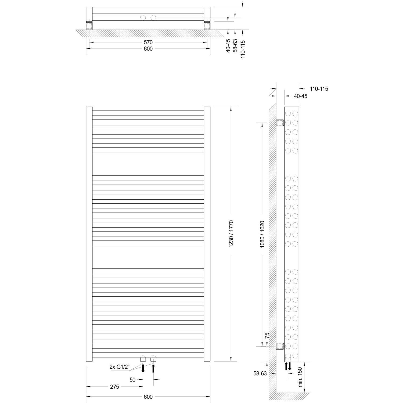 schulte design heizk rper m nchen powerpack mit mittenanschluss 995 w alpinwei kaufen bei obi. Black Bedroom Furniture Sets. Home Design Ideas