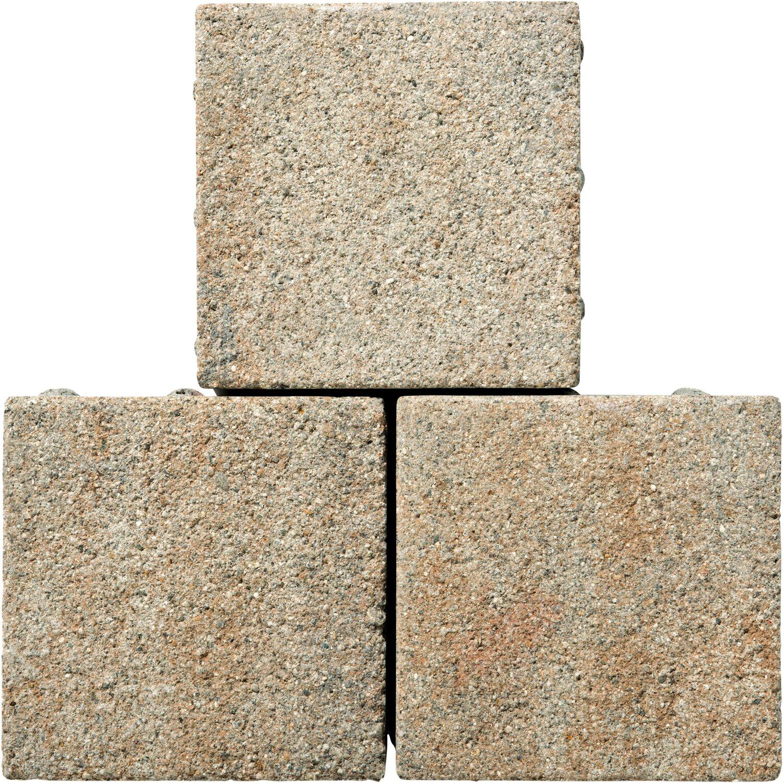 Pflaster Beton Drain Muschelkalk 21 cm x 21 cm x 8 cm