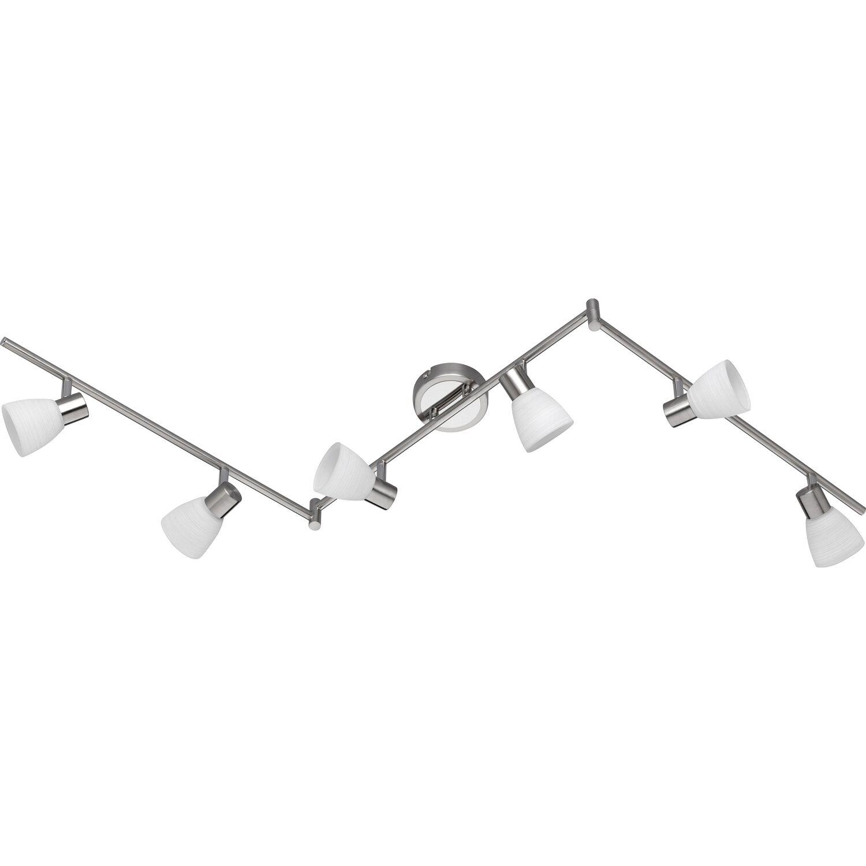 Trio LED-Spot 6er EEK: A+ Caprico Nickel matt dimmbar