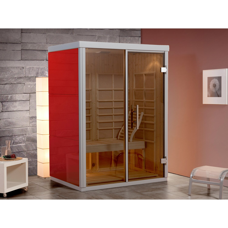 weka infrarotkabine aktivit rosso gr 2 mit roten hochglanzplatten kaufen bei obi. Black Bedroom Furniture Sets. Home Design Ideas