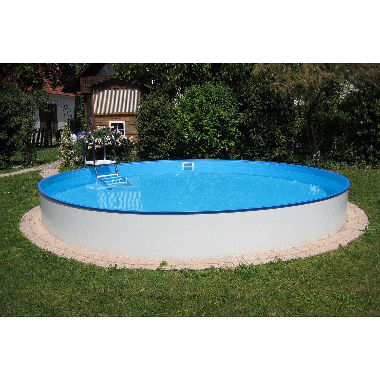 Stahlwandpool teilversenkt  Summer Fun Stahlwand Pool-Set Halbhoch-Einbaubecken Brasilia Ø 300 ...