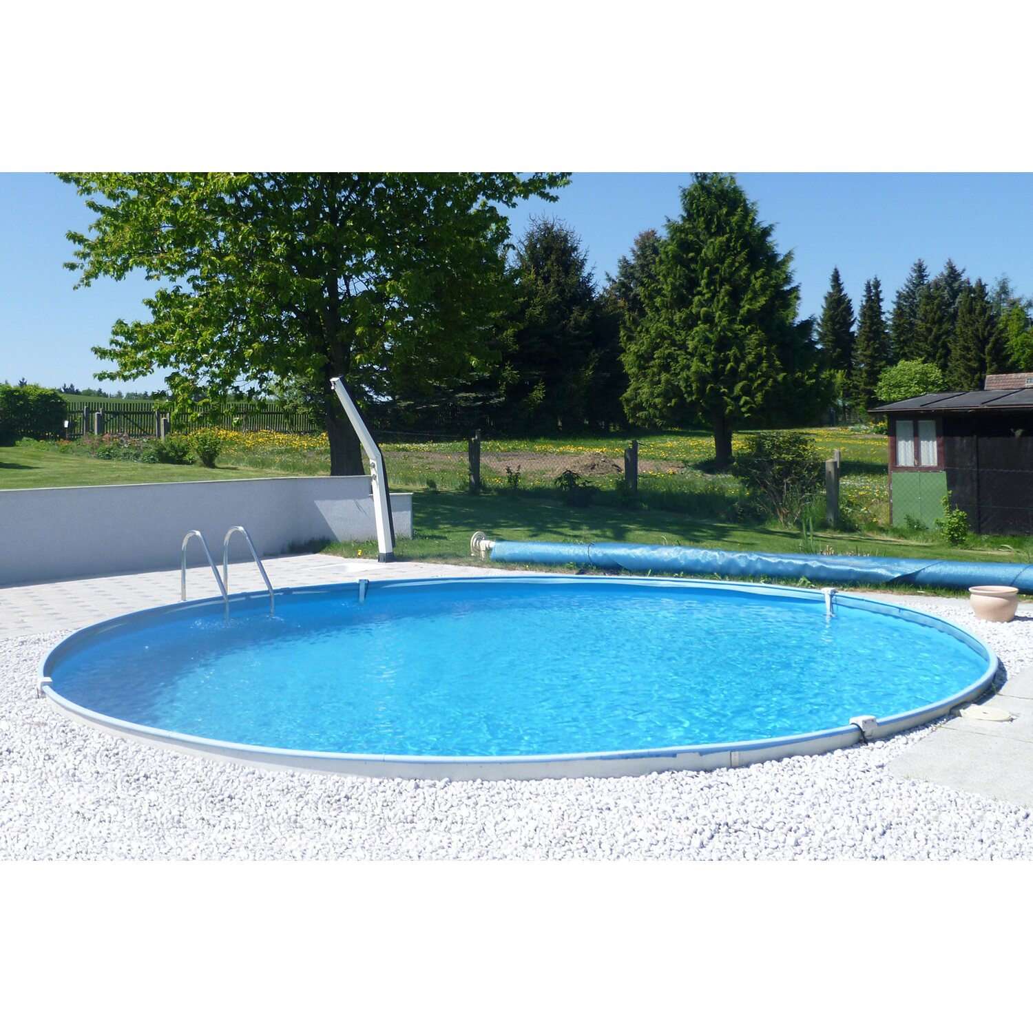 summer fun stahlwand pool set bermuda einbaubecken 600. Black Bedroom Furniture Sets. Home Design Ideas