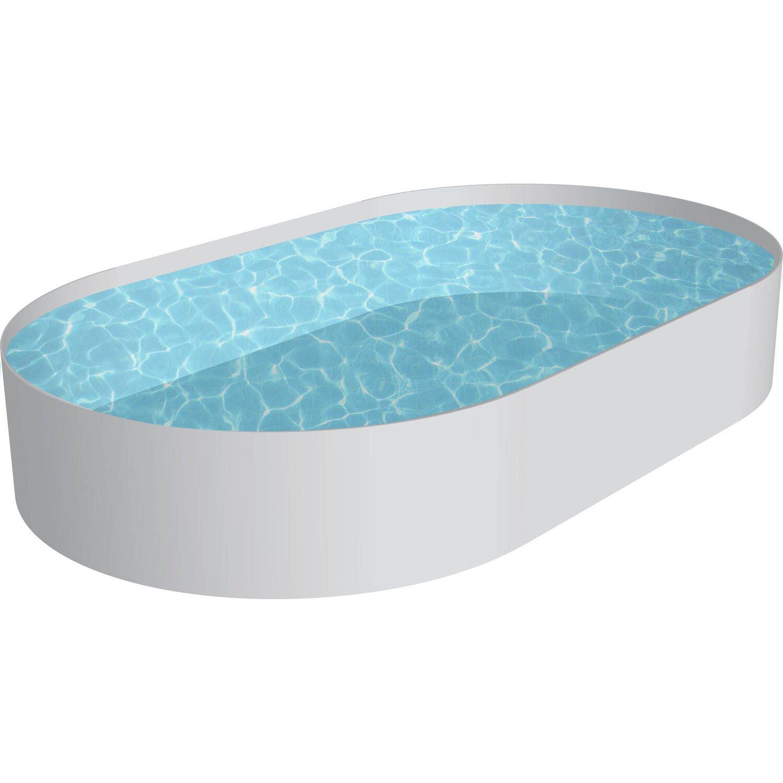 stahlwand pool set fidschi einbaubecken ovalform  cm