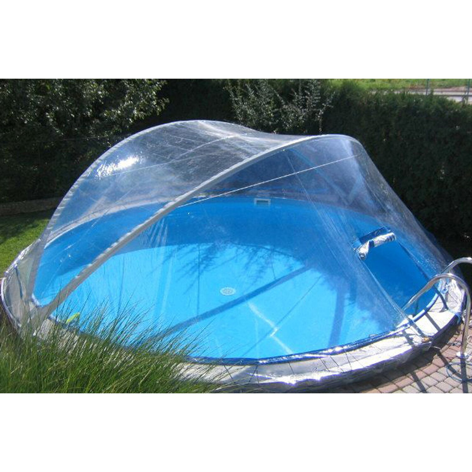 Summer fun pool berdachung cabrio dome f r ovalbecken 320 for Obi intex pool