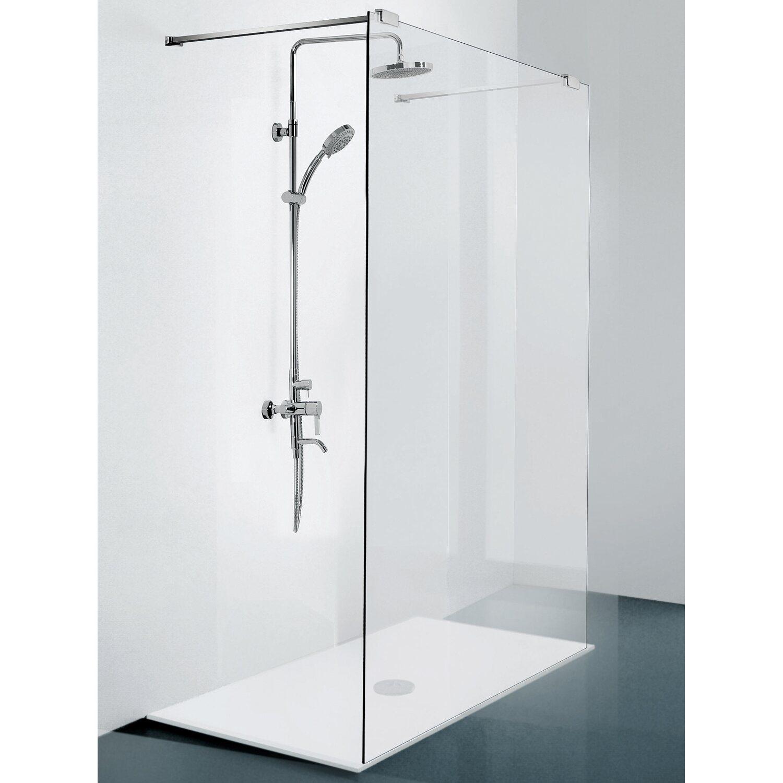 sanotechnik duschtrennwand n8500 mit teleskophalterung. Black Bedroom Furniture Sets. Home Design Ideas