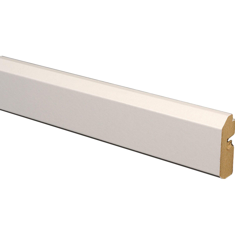 paneel-abschlussleiste hochglanz weiß 35 mm x 17 mm länge 2600 mm