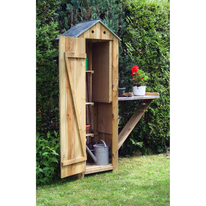 dobar holz ger tehaus mit pflanztisch natur 130 cm x 48 cm x 185 cm kaufen bei obi. Black Bedroom Furniture Sets. Home Design Ideas